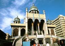 Khan travels in Tenggeli temple  Urumchi of China