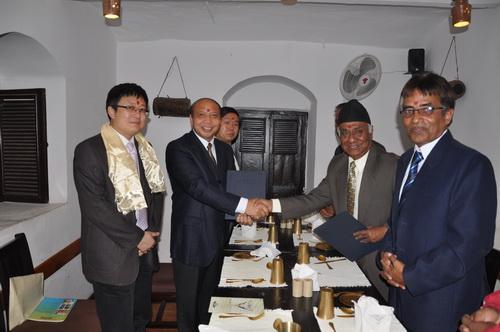 Vice President Jiang Shuzhuo Visiting Nepal