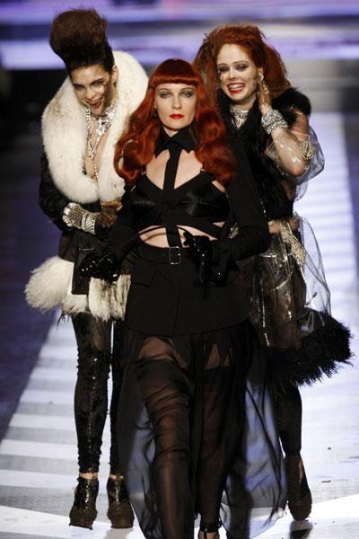 Jean-Paul Gaultier F/W 2009/10 women's collection at Paris Fashion Week