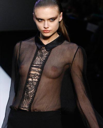 Creations shown during women's fashion show in Paris