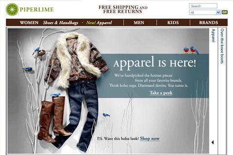 Clothes Designer Website | Usa Gap S Piperlime Site Adds Designer Clothes To Shoe Racks 84789