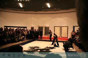Japanese Artist YANAGIDATAIZAN presents a calligraphic exhibition