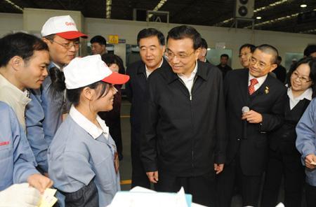 Vice Premier Li Keqiang inspects in Guangdong