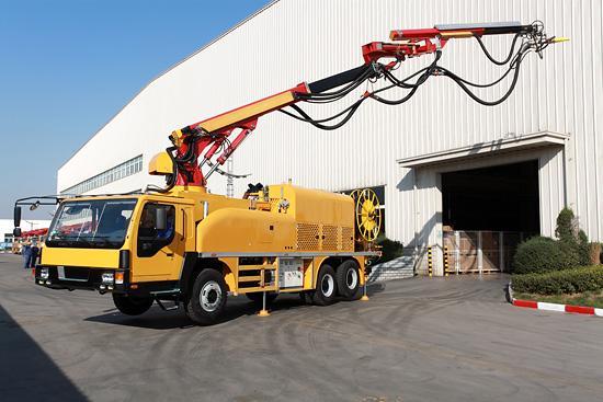 HPC30 concrete shotcrete truck to appear on BAUMA exhibition