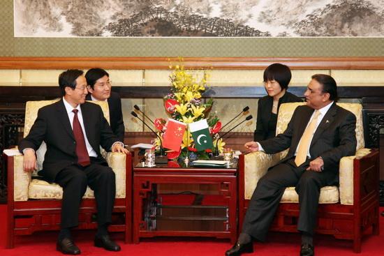 Minister Han Changfu Meets with Pakistani President Asif Ali Zardari
