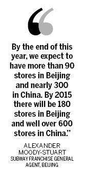 Subway eyes further China expansion