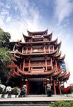 The bright green pavilion travels  Nan Ping of China