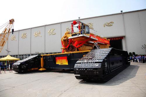 XCMG successfully launches 1000-ton crawler crane