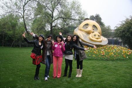 Miss Asia Pageant participants visit Pandabase