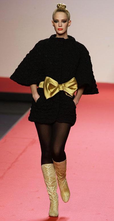 Berhanyer during the Pasarela Cibeles fashion week in Madrid