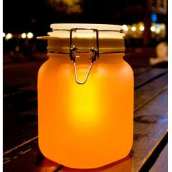 China Solar Light in a Glass Jar with a LED Light in The Cover LED Sun Jar on sale