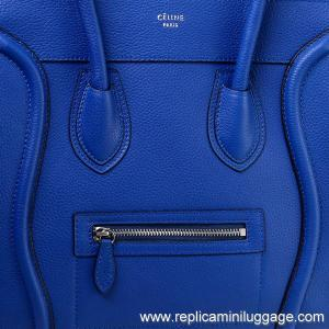 celine classic box bag price - Celine Mini Luggage Tote Bag Pebbled Leather Electric Blue for ...