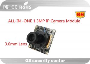 Network 1.3 M CCTV Camera Module support 2D / 3D Noise reduction Economic 3.6mm M12 lens ALL-IN-ONE