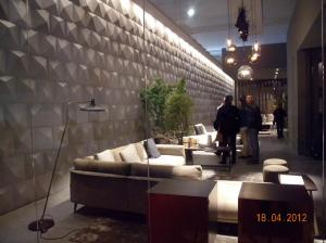 Pvc material waterproof exterior 3d wall panels outdoor for Outdoor wall coverings garden