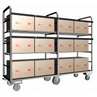 Metal Wire Shelving / Wire Mesh Shelving Equipped With 6 Castors For Material Handling