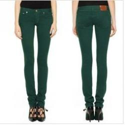 Dark Green Jeans Womens - Xtellar Jeans