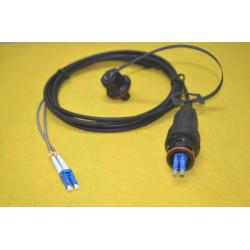 China ODLC Fiber Patch Cord Armoured GYFJH 2 Core Fiber Optic Cable with Pulling Eye on sale