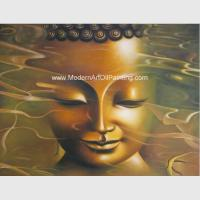 Modern Buddha Statue Oil Painting , Handmade Abstract Canvas Oil Paintings Oriental