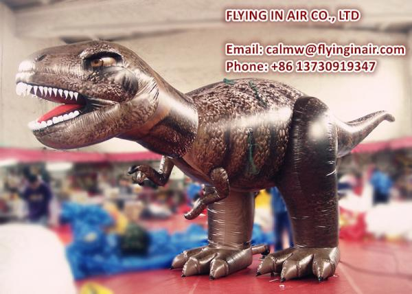 China Printing Cloth 4.5m(H)*7m(L) Dinosaur Inflatable Dragon for Outdoor Decoration supplier