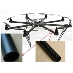 China round shape 25m,28mm,32mm diameter multi-rotor type aircraft  carbon fiber tube 3K plain/ twill surface with best price on sale