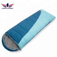 Car Camping Packable Backpacking Envelope Sleeping Bag Blue and Orange