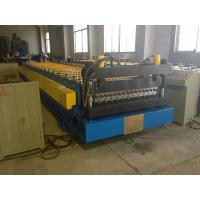 Corrugated Metal Steel Roof Panel Roll Forming Machine  Automatic  PLC Control Customized