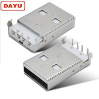 DIP 90 Degree USB A Female Connector Type 2.0 Male For PCB & Circuit Board