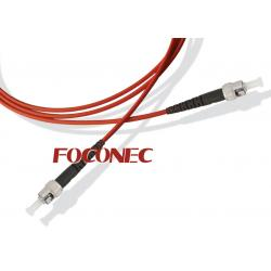 China ST - ST Multimode Simplex Fiber Optic Patch Cord, 3.0mm Diameter, PC / UPC polishing on sale