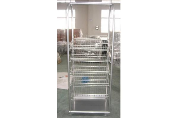 Portable Exhibition Unit : Portable retail display units metal racks with
