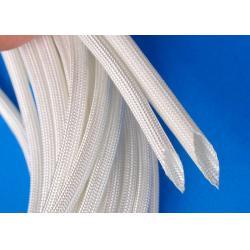 China 400ºC - 500ºC High Temperature Fiberglass Sleeving Flame Retardant Fiberglass Braided Sleeve on sale