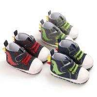 Wholesale Cheap Canvas Dinosaur animal prewalker outdoor antislip boy baby shoes