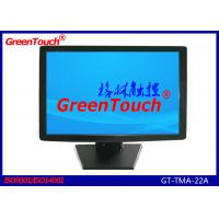 22 Inch Touch Screen Desktop Monitor , Banks LCD Touch Screen Display