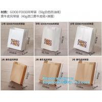 fried chicken hamburger fast food packaging wrapped bag plastic paper wholesale disposable custom printing,Deli food pac
