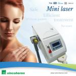 Mini Laser Tattoo Removal Machines With Big LCD For Tightening Skin / Removing Reflecks
