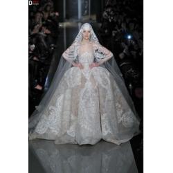China CH1869 Gorgeous Elie Saab Wedding Dress High End Custom Made Lace Puffy Ball Gown Wedding Dress 2014 on sale