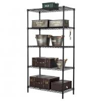 H276 Free Standing Metal Shelving Unit , Wire Storage Shelves For Kitchen / Office