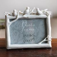 Factory Direct Promotion wholesale unique Custom Lovely Birds Resin Picture Photo Frame For Home Deco