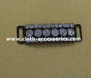 China Shinning Crystal Diamond Metal Ribbon Buckles Durable With Alloy Plated supplier