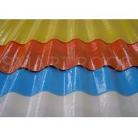 1.2 MM Thickness FRP Roofing Sheets In Steady Density , High Solidify Percentage