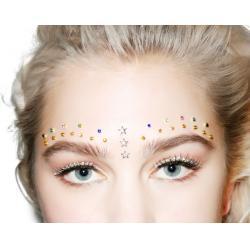 China Festival Rhinestone Body Jewelry Tattoo Stickers , Self Adhesive Face Jewels on sale