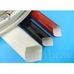 China Silicone Rubber Coated High Temperature Fiberglass Sleeve Silicone Fiberglass Sleeving on sale