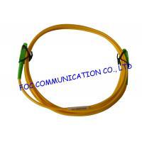LSZH Jacket SC / APC Fiber Optic Patch Cord , Simplex Fiber Optic Cable Single Mode