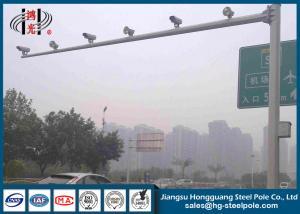 H 6.5m Road Monitor Galvanized CCTV Camera Poles Weather Resistance