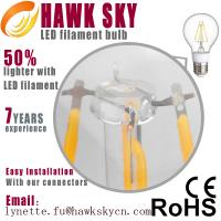 German IS machine test 99.999% gold line CE ROHS China led filament bulbs factory