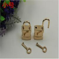 High grade bag hardware light gold Chinese element key and decorative lock
