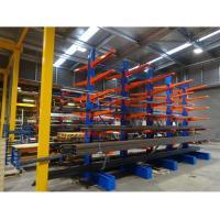 Custom Industrial Metal Scaffolding Warehouse Cantilever Sheet Rack For Rebar Storage