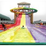 8 Riders Fiberglass Water Park Slides , 8 Lane Rainbow Racing Slides