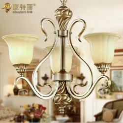 China Silver White Hanging Wrought Iron Ceiling Lights American Style , 3 Light on sale