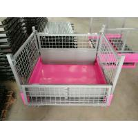 OEM Heavy duty collapsible stackable storage fold industry hot dip galvanized steel metal wire mesh pallet stillage