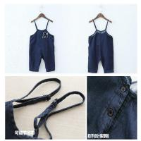 Dark Blue Baby Boy Overalls Jeans With Suspenders European American Style